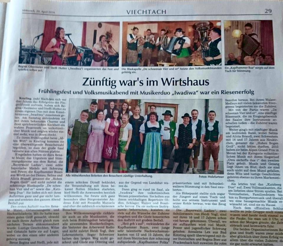 Krailing Zeitung 2016