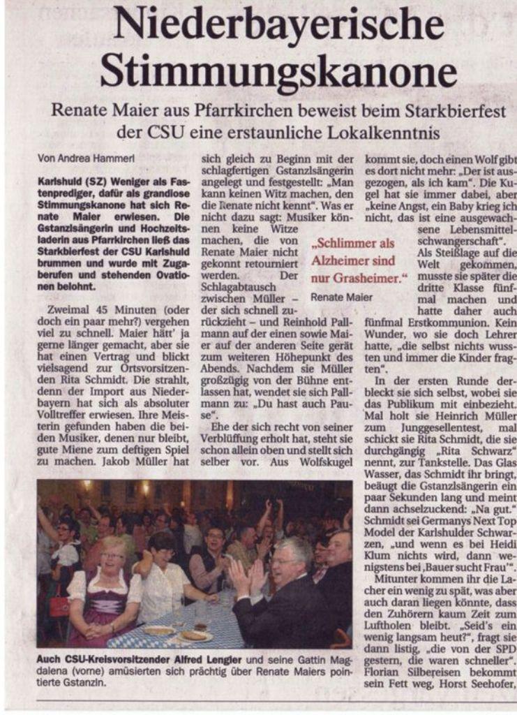Renate Maier Stimmungskannone